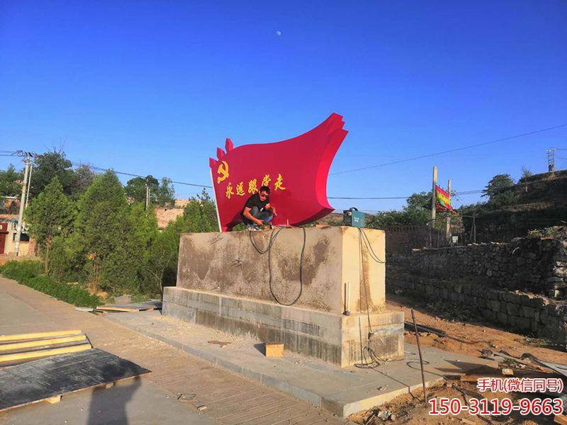山西平定县不锈钢党旗 (1)