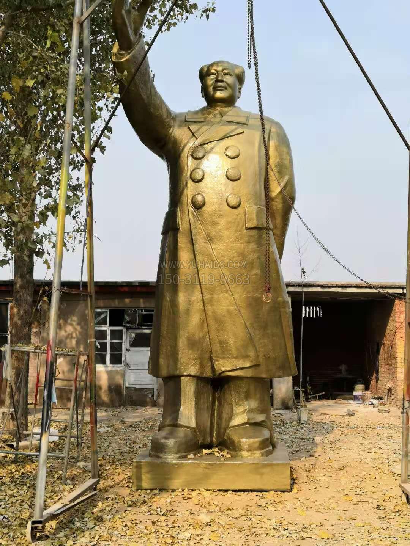 玻璃钢仿铜毛主席雕像