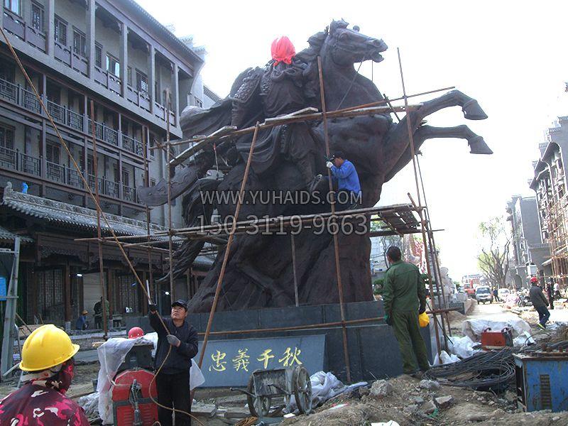 山西运城关王庙关公主雕塑安装完成